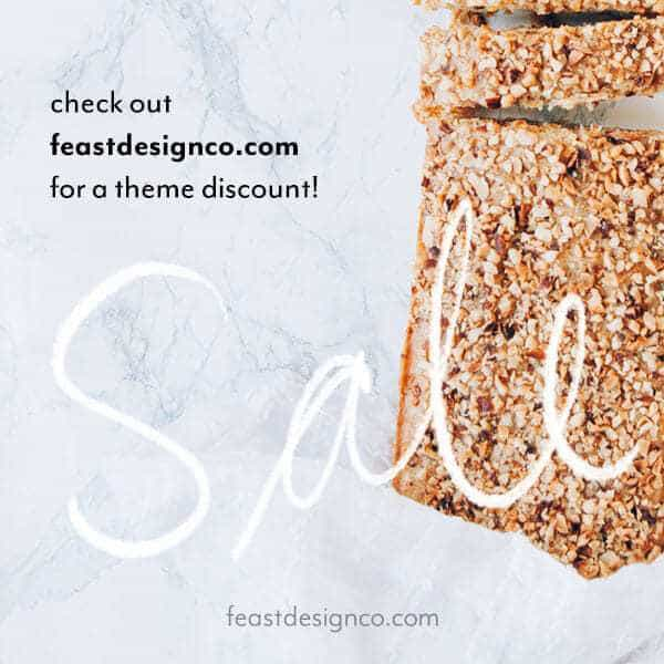 WordPress themes for food bloggers at feastdesignco.com